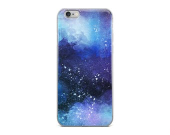 Shades of Blue Painted Galaxy iPhone Case | Colourful Case | iPhone 6/6s, 6 Plus/6s Plus, 7/7 Plus, 8/8 Plus, X Case