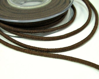 Cotton rope cord, cotton fiber cord, cotton rope for crafts, colored cotton rope, 3.5mm cord, wrapped cotton rope, brown cotton cord, 1m