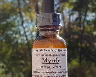 MYRRH Herbal Extract | ALCOHOL-FREE Tincture | Glycerite | Natural Remedy | Wellness Supplement. All Natural Oral Care & more. 1 fl oz