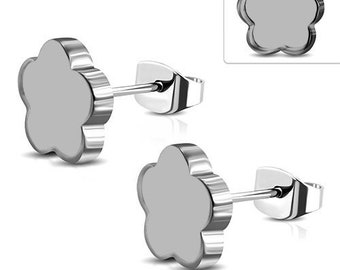 Earrings Flowers Stainless Steel 316L