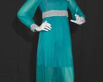 1970's Prairie Gunne Sax Style Babydoll Dress  by: Laurie Deb.