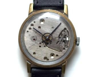 Skeleton Watch ,Soviet watch ,Russian watch ,Vintage Watch ,Mens watch ,Mechanical watch, classic watch- USSR Vintage