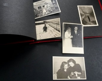 Old photo album with pictures lot - BB6