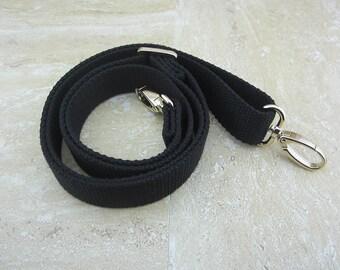 """50"""" Black Cotton Webbing Strap - Adjustable"""