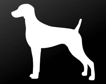 Weimaraner Vinyl Decal Car Window Laptop Dog Silhouette Sticker