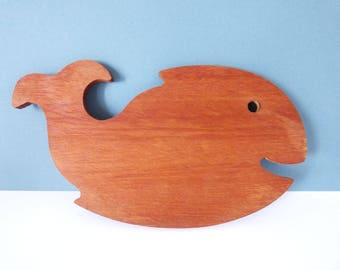 Vintage mini Whale bar board chopping board / cheese board