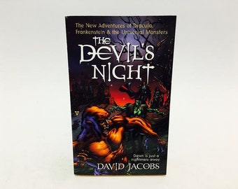 The Devil's Night by David Jacobs Vintage Horror Paperback Book