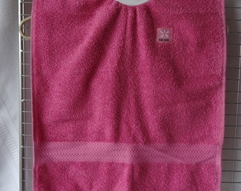 Baby Toddler Pullover Bib - 100% cotton, Pink Adorable
