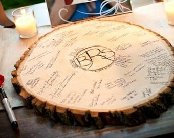 Guest Book Signing Tree Stump/Centerpiece