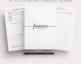 Ultimate Budget Planner, Finance Planner, Money Planner, Budget Planner Template, Bill Tracker, Expense Track, Savings Chart, Finance Binder