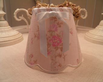 Lampshade for sconces and chandeliers in English linen rachel ashwell fabric