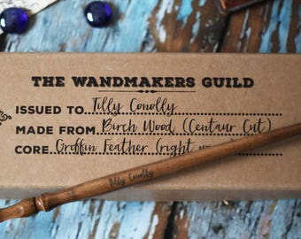 Personalized Wizard Wand - Wand for Wizards and Witches, handmade wooden gift for children and adults