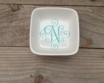 Desk Storage, Desk Decor, Desk Accessories, Change Holder, Personalized Dish, Co Worker Gift, Birthday Gift, Gift for Her, Mint Holder