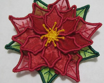 Free Standling Applique 3D Flower Project #394 ( Machine Embroidery Design from ATW )