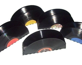 Upcycled Record Album Storage Container Vinyl LP Home Decor Office Desk Accessories