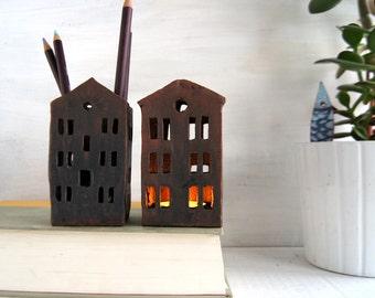 Office Decor-Pencil Holder-Ceramics-Ready To Ship