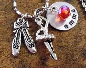 Ballet Jewelry, Ballerina Necklace, Ballerina Jewelry, Ballet Gift, Dance Jewelry, Personalized Ballerina Jewelry, Stamped Jewelry