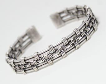 mens silver cuff bracelet, mens bracelet, cuff bracelet men, wire wrapped bracelet, mens jewelry, wire wrapped jewelry handmade