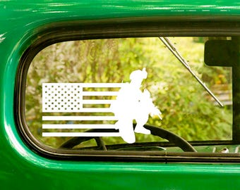 US Soldier Decal, 2 Decals, United States Flag Decal, Army Decal, US Military Decal, Army Sticker, Bulk, Laptop Sticker, Wholesale