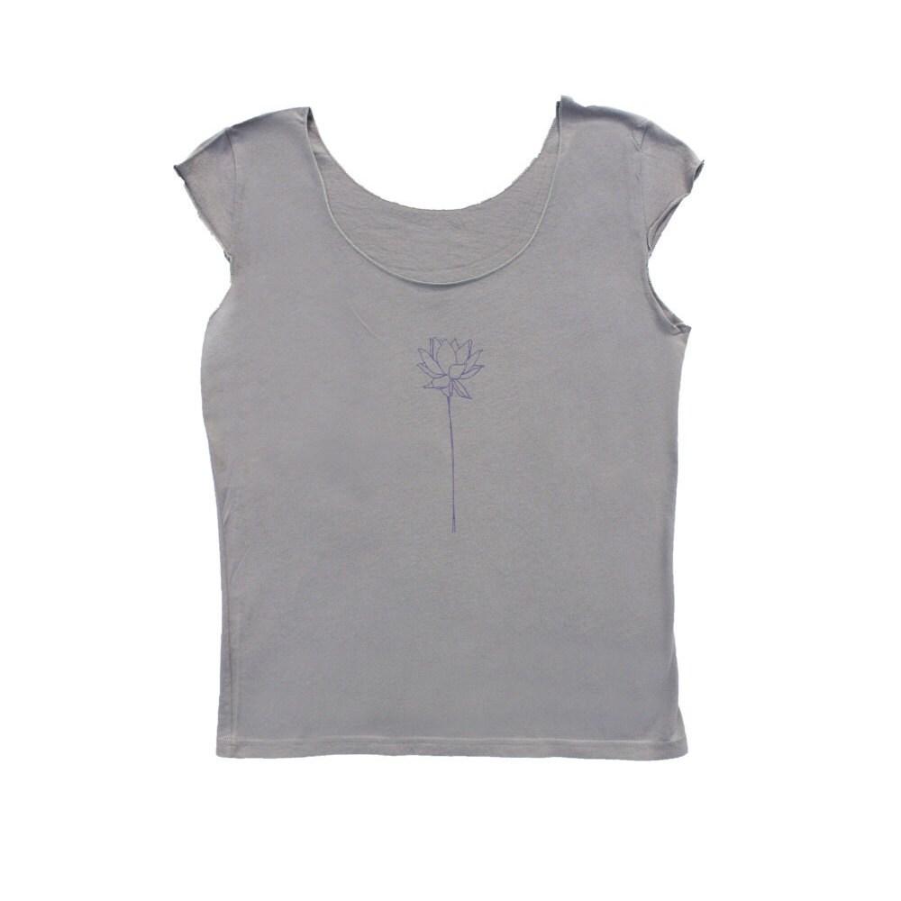 Lotus t shirt lotus flower cap sleeve t shirt scoop neck description the lotus flower cap sleeve tee izmirmasajfo