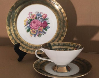Winterling Trio Teacup Saucer and Side Plate - Bavaria Germany