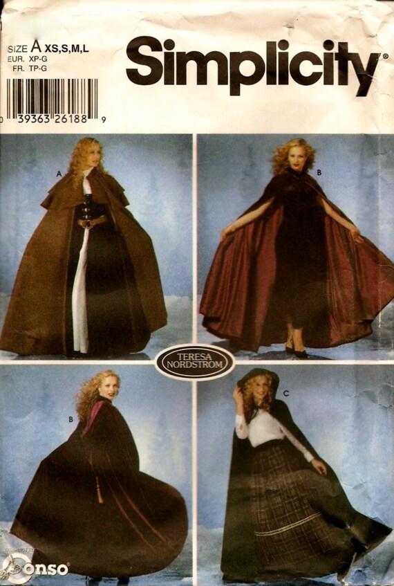 Einfachheit Nähen Muster 5794 viktorianischen Stil Oper Hood