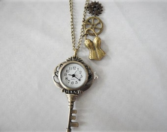 Steampunk Pendant Watch Key