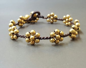 Brass Flower  Bracelet