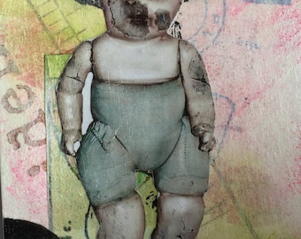 Creepy Doll ACEO - Fantasy Art - Creepy Aceo - Dark Art Card