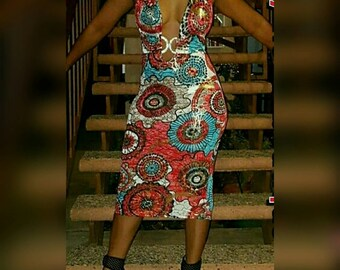 Multi colored  fitted dress