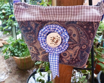 Country, shoulder bag, printed wool felt, costume pocket, Oktoberfest,