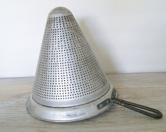 Vintage Wear Ever Canning Strainer - Wear Ever Aluminum Strainer - Canning Funnel Strainer - Taccuco - Made in USA - PAT 1761087 - 1950s