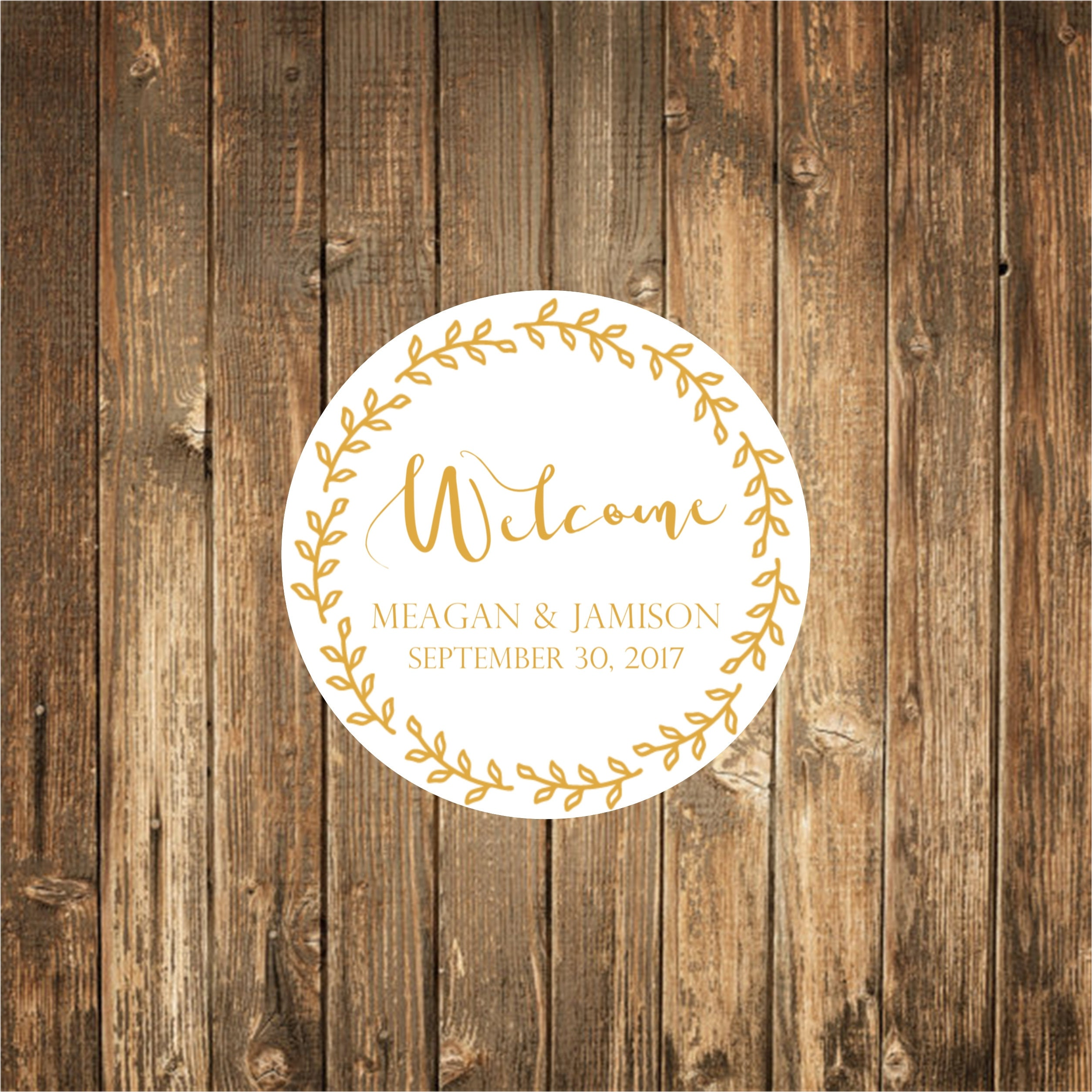 Welcome To Our Wedding Weekend Gift Bags: Welcome Bag Wedding Stickers-Welcome To Our Wedding Weekend