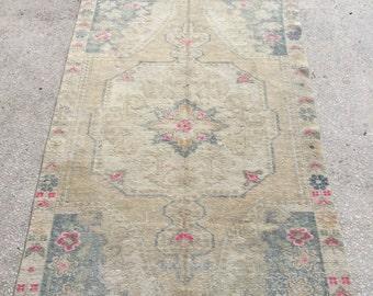 7x4.4 feet 214x134 cm, Anatolian Rug, Oushak Anatolian Carpet Rug Tribal Rug,Vintage Turkish Rug,Bohemian Carpet Rug, Turkish Ethnic Rug,