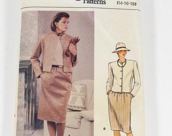 Vogue 9050 - Misses Jacket and Skirt - Vintage Pattern - Size 14-16-18