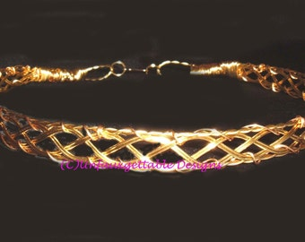 Adult Gold Woven Circlet Crown adjustable for men and women larp ren sca