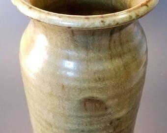 "Mid Century Modern Signed Studio Pottery Vintage Vase Incised ""Spencer"""