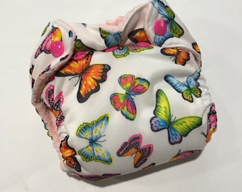 Newborn All in Two Diaper - AI2 - Butterflies