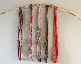 Bohemian wall hanging and necklace hook