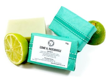 Lime and Patchouli Natural Handmade Soap SLS Free
