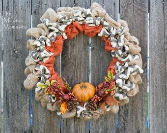 Autumn Chevron Wreath