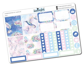 Hummingbird Kit Sampler | KS01 | Planner Stickers for Erin Condren Vertical Planners - Physical Item | The Hummingbird Planner