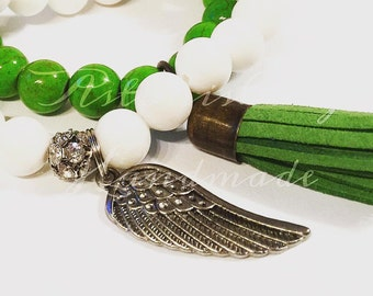 Wing Green  Gemstone Bracelet Set