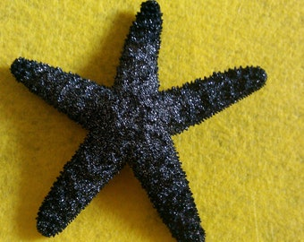 Black, black Starfish, ocean, Beach wedding, tropical wedding, bridal, starfish barrette, starfish hair clip, fish, ocean clip