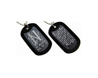 No weapon - Dog Tag Necklace