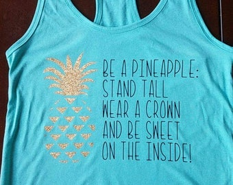 Be a Pineapple Racerback Tank Top