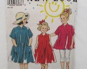 New Look 6038 Girls Dress or Tunic Size 3-4-5-6-7-8 UNCUT