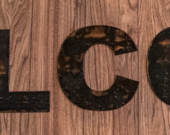 """Rustic Metal Welcome Sign - 4"""" to 40"""" Tall - Steel"""