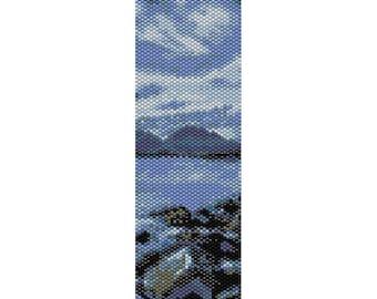 Rocky Shore Peyote Bead Pattern, Bracelet Pattern, Bookmark pattern, Seed Beading Pattern Miyuki Delica Size 11 Beads - PDF Instant Download