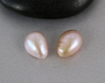 Pink Keishi Pearls - Pair - Keishi Pearls - 11mm